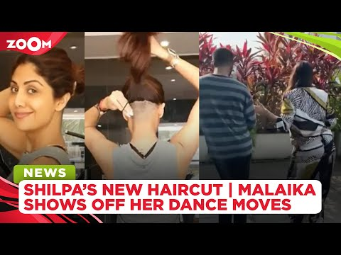 Shilpa Shetty SHOCKS fans with bold undercut hairstyle | Malaika Arora shows off her dance moves