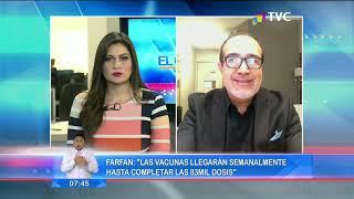 Farfán: ''Hoy a las 16 horas llegará la primera entrega de vacunas''