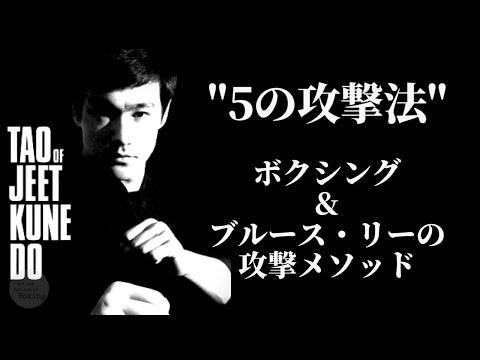 """「ボクシングで見るブルース・リーの攻撃メソッド """"5の攻撃法"""" 」(ジークンドー)"""