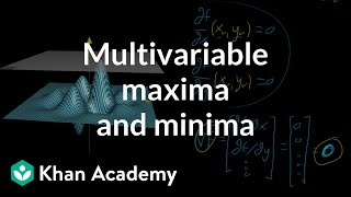 Multivariable maxima and minima