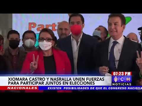 ¡ALIANZA CON EL PUEBLO! Xiomara Castro y Salvador Nasralla firman Acuerdo Político