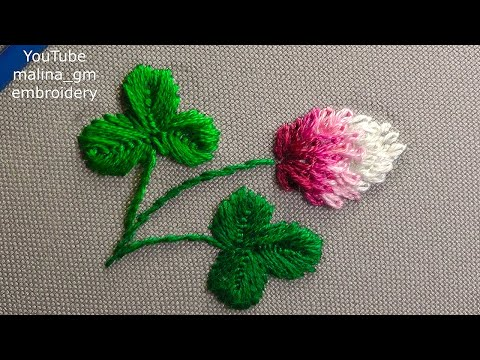 Dimensional embroidery | mini clover flowers