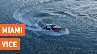 Police Officer Jumps Onto Runaway Boat | Saving the Day