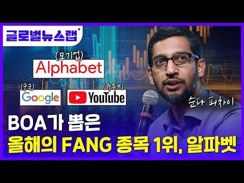 [글로벌뉴스랩]올해의 FANG 주식 1위는 구글 알파벳? 한방에...