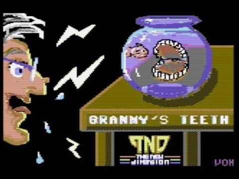 RETROJuegos Homebrew - Grannys Teeth (c) 2020 The New Dimension p/ Commodore 64