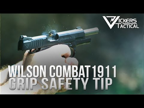 Wilson Combat 1911 Grip Safety Training Tip