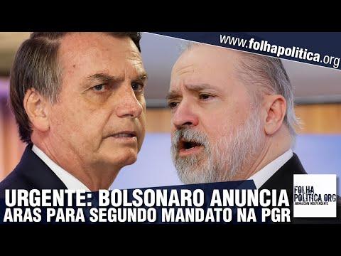 URGENTE: Bolsonaro anuncia indicação de Augusto Aras para segundo mandato à frente da PGR