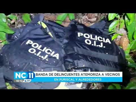 Banda de delincuentes se hacen pasar por policías en Puriscal y alrededores