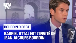 Gabriel Attal face à Jean-Jacques Bourdin en direct