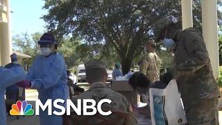 Trump Cuts National Guard Deployment A Day Short Of Benefits Accrual | Rachel Maddow | MSNBC