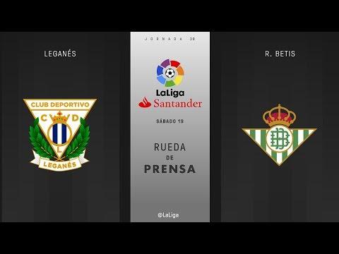 Rueda de prensa Leganés vs R. Betis