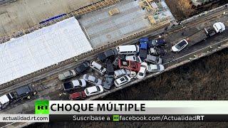 Masivo choque de 69 automóviles deja decenas de heridos en EE.UU.
