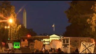 Protestas frente a la Casa Blanca contra la violencia policial