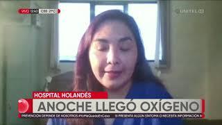 Llega oxígeno al Hospital Holandés en El Alto, pero solo durará una semana