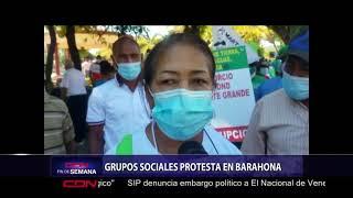 Protestan Barahona contra explotación minera y otras reivindicaciones