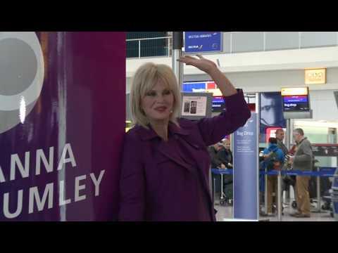 Joanna Lumley marks Heathrow's  70th anniversary