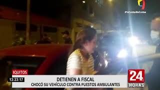 Iquitos: intervienen a fiscal y su secretaria manejando en presunto estado de ebriedad