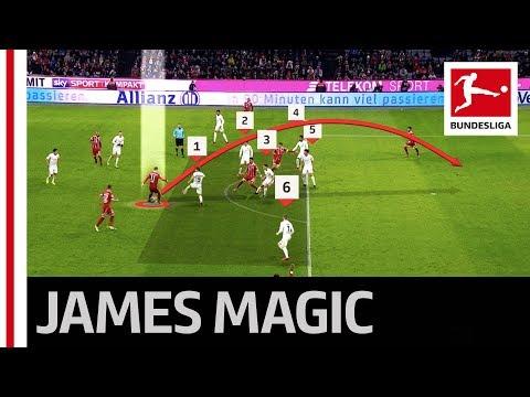 James Rodriguez' Sublime Assist for Müller's 100th Goal