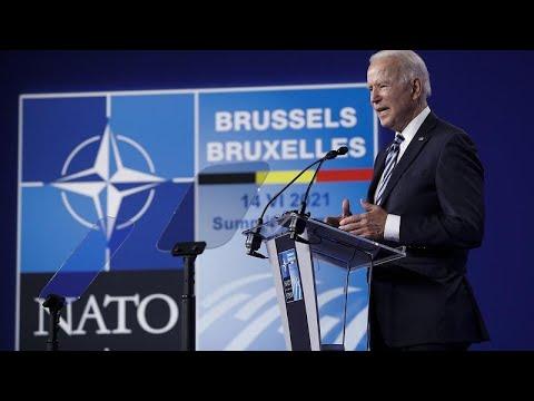 A l'issue du sommet de l'Otan Joe Biden lance un avertissement à la Russie
