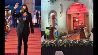 Vicepresidente Harris llegará al Palacio Nacional de la Cultura