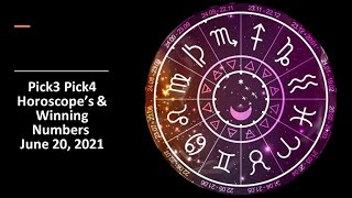 Today Hot And Cool ???? Pick 3 Pick 4 Horoscope Winning Number ???? June 20 2021 ????