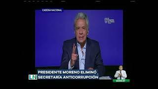 Presidente Moreno eliminó Secretaría Anticorrupción