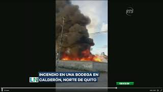 Se registró un incendio en el interior de una bodega