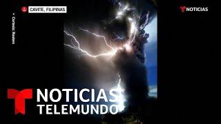 La erupción del Taal genera rayos volcánicos y obliga a huir a miles de personas   Noticia Telemundo