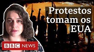 Protestos detonados pela morte de homem negro se espalham pelos EUA e produzem cenas de violência