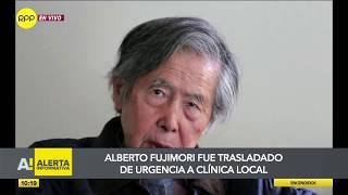 Alberto Fujimori es trasladado a clínica Centenario por parálisis facial
