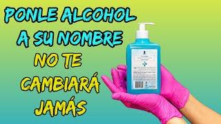 SOLO PONLE ALCOHOL A SU NOMBRE Y NO TE DEJARÁ JAMÁS! AMARRE CON ALCOHOL Y LIMÓN