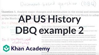 AP US history DBQ example 2