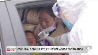 Se eleva a 106 cifra de muertos por 'Virus de Wuhan' en China