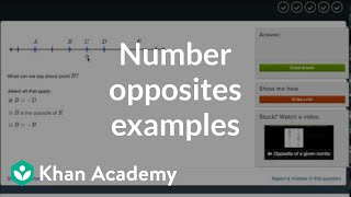 Number opposites practice