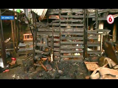 Fuego destruye vivienda y bodega en Tejar del Guarco