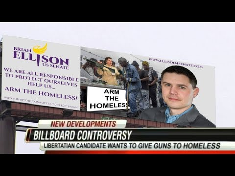connectYoutube - Senate Candidate Wants To Give Guns To The Homeless