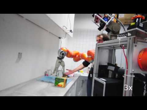 TUM Kitchen robot using multi-channel perception. Using Kuka LWR-4 arms and DLR/HIT hands.
