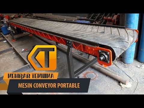 Mesin Conveyor Portable    Pemindah Barang Praktis