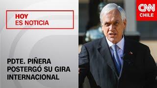 "Presidente Piñera postergó su gira internacional por razones ""únicamente de índole sanitarias"""