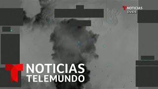 Estados Unidos publica un video del ataque aéreo en Siria e Irak   Noticias Telemundo