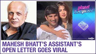 Sushant Singh Rajput case: Mahesh Bhatt's assistant's open letter on Rhea-Sushant goes VIRAL - ZOOMDEKHO