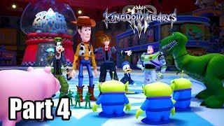 KINGDOM HEARTS 3 [PS4 PRO] English Walkthrough Part 4 - Toy Box (No Commentary)