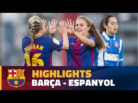 [HIGHLIGHTS] FUTBOL FEM (Liga): FC Barcelona – Espanyol (4-0)