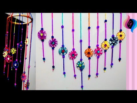 How to make wind chime with bangles - Wall hanging with old bangles - Old bangle craft