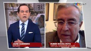 Entrevista con el virtual gobernador de Sinaloa
