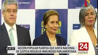 Acción Popular presenta proyecto de ley para el levantamiento de la inmunidad parlamentaria