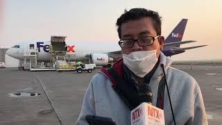 Arriba tercer avión con ventiladores procedente de Estados Unidos
