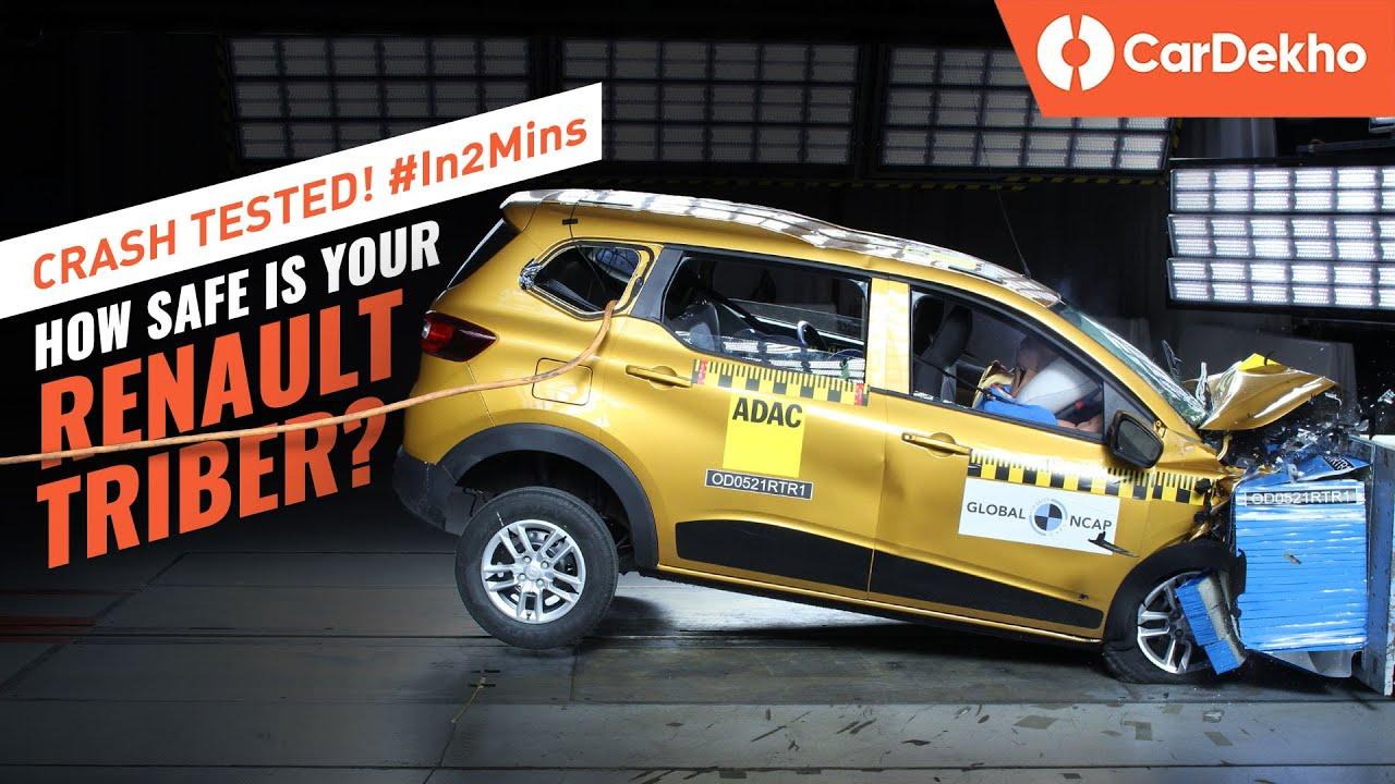 రెనాల్ట్ ట్రైబర్ crash test rating: ⭐⭐⭐⭐ | affordable और safe भी! | full details #in2mins