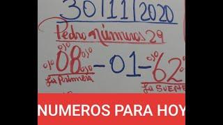 NUMEROS PARA HOY 30/11/2020 DE NOVIEMBRE PARA TODAS LAS LOTERIAS