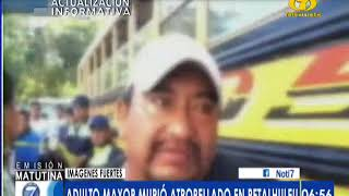 Adulto mayor murió atropellado en Retalhuleu